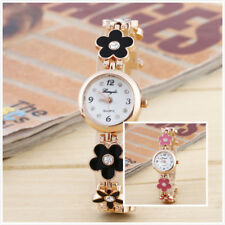 Korean Fashion Daisies Flower Rose Gold Bracelet Wrist Watch Ladies Girls Gift