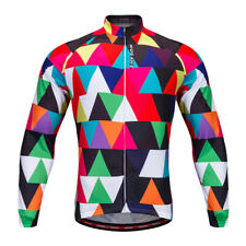 Unisex Cycling Jersey Jacket Riding Jersey with Reflective Strips Multicolor