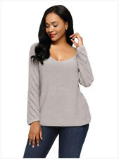 Women Ladies Sweaters and Pullovers Work Wear Long Sleeve XXL Plus Size Sweater