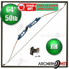 Blue Jazz 50 lb Recurve Bow for Archery Target Shooting or Hunting