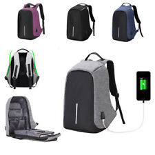 Anti-theft Mens Womens Laptop Notebook Backpack With USB Charging Port-NEW