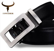 COWATHER Luxury Belts Stylish Men Genuine Leather Male Strap Automatic Buckle