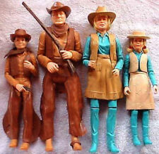 "1968 BEST OF THE WEST 12"" marx figure - JOHNNY JANE -- HAT HEAD RIFLE CLOTHES"