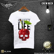 Cherry Skull Tshirt Mens Cool Graphic Tee Designer Skull Shirt Festival Top D675