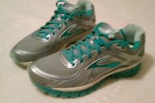 10M Brooks GTS 16 Women's Athletic Running Shoes Blue Gray Flextra
