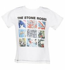 Official Kids White Stone Roses Album Covers T-Shirt from Amplified Kids