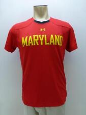 Maryland Terrapins Terps Under Armour Loose Heat Gear red T Tee Shirt mens Small