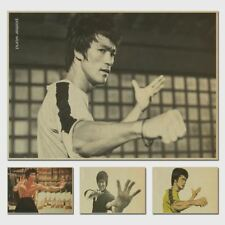 Vintage Classic Kung Fu Star Bruce Lee Series Movie Poster Retro Kraft Paper Bar