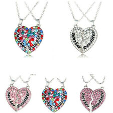 Alloy Gift Clavicle Fashion Jewelry Pendant Crystal Chain Necklace Heart-Shaped