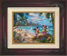 Thomas Kinkade Mickey and Minnie in Hawaii 12 x 16 Limited Edition G/P Canvas