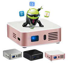 Projector for IPHONE MINI DLP LED Pocket 1080P HD Home Cinema BT Android FAST