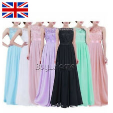 Womens Ladies Party Evening Prom Xmas Gown Bridesmaid Maxi Long Dress Size 8-20