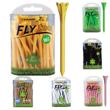 """PACK OF 50!! Champ Zarma Fly Tee 69mm 2 3/4"""" Golf Tees - all colours 50 Tees!"""