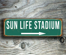 Sun Life Stadium Sign Home of the Miami Dolphins Vintage Style Miami Dolphins