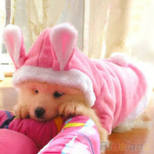 HK- Trendy Pet Dog Cat Cute Bunny Warm Autumn Winter Clothes Puppy Costumes Appa