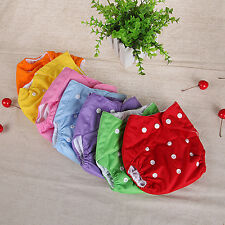 HK- Reusable Baby Infant Nappy Dotted Cloth Washable Diapers Soft Covers Exotic