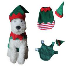 HK- Pet Dog Elf Winter Clothes Costume Jacket Coat Puppy Sweater Xmas gift Arden
