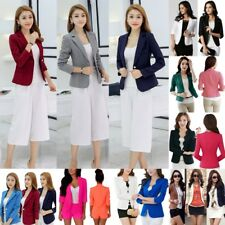 AU Women Office OL Suit Blazer Lady Jacket Coat Casual One Button Top Outwear