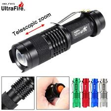Ultrafire SK68 6000 LM CREE Q5 14500 AA ZOOM LED Flashlight MINI Police Torch GL