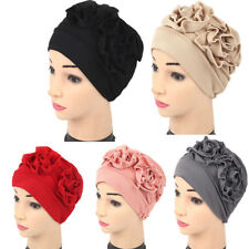 Women Lady Muslim Ruffle Cancer Chemo Hat Beanie Scarf Turban Head Wrap Cap New