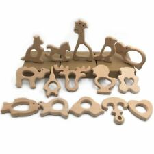 1pc/lot Organic Baby Teether Wooden Teether Natural Teething Grasping Toy Baby S