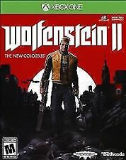 Wolfenstein II 2 The New Colossus Microsoft XBOX ONE New Sealed Free Shipping