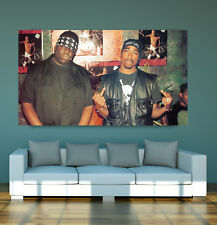 """LARGE Biggie """"Notorious B.I.G"""" Smalls Tupac """"2pac"""" SHAKUR POSTER EAST&WEST COAST"""