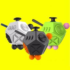 12 Side Magic Fidget Cube Anxiety Adult Stress Relief Focus Puzzle Kids Toy Gift