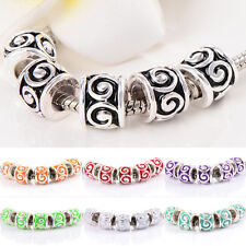 10pcs Silver Plated Charm murano Glass beads European Fit bracelet gift