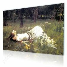 READY TO HANG CANVAS Ophelia Waterhouse Oil Paintings Prints Framed Print