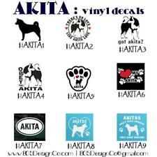 AKITA vinyl decals - car decal - paw prints vinyl stickers - dog stickers - car