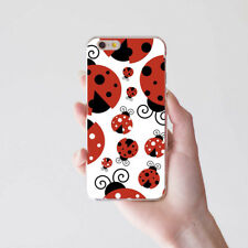 Ladybug Pattern Phone Case Cover for iPhone X 8 Samsung S8 Huawei P9 Flowery