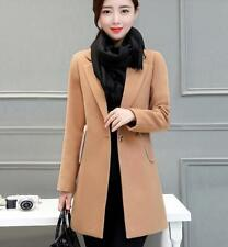 Fashion Women's Wool Blend Long Jacket Coat Ladies Slim Outwear Overcoat coat