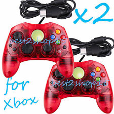 2 LOT NEW RED Controller Control Pad for Original Microsoft XBOX X BOX System HM