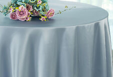 "Wedding Linens Inc. 120"" Satin Round Heavy Duty Tablecloths Table Cover Linens"