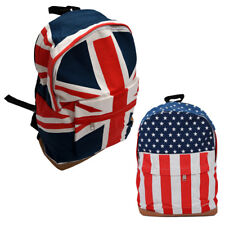 Womens Mens School Book Campus Bag Backpack Satchel US Flag Pattern H1G1@O1D6
