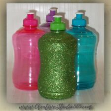 Glitter Water Bottles - 25oz bottle with handle - bpa free - glitter decorated -