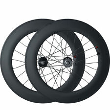 Racing Track fixed gear Single Speed 1800g Carbon Wheels 88mm Clincher Tubular