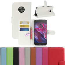 For Motorola Moto X4 Case PU Leather Filp Cover Slots Wallet Stand Pouch Skin