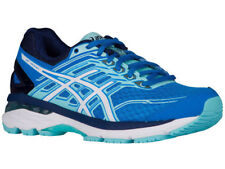NEW WOMENS ASICS GT-2000 V5 GEL RUNNING SHOES TRAINERS DIVA BLUE / WHITE D-WIDE