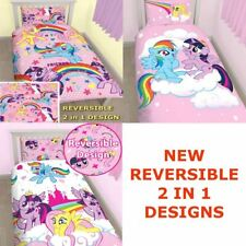 REVERSIBLE MY LITTLE PONY EQUESTRIA SINGLE DUVET COVER BED SET KIDS BEDDING MLP