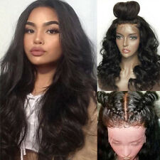 360 Lace Frontal Human Hair Wig Wavy Unprocessed Full Lace Wigs No Tangle Black