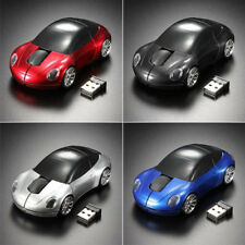 NEW Car 2.4GHz Wireless Cordless Optical Mouse Mice + USB Receiver for PC Laptop