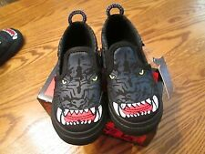 """VANS """"PANTHER"""" TODDLER BOY CANVAS SLIP ON SHOES SIZE 5 NEW IN BOX"""