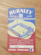Burnley Programmes