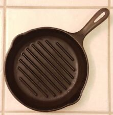 "VINTAGE GRISWOLD WAGNER WARE CAST IRON SMALL LOGO ROUND 9"" GRILL/SKILLET/PAN USA"