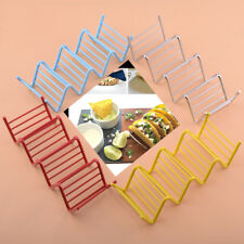 Stainless Steel Wave Shape Taco Display Stand Up Holders Kitchen Food Rack Shell