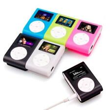 Mini USB Clip MP3 Player with LCD Screen Support 32GB Micro SD TF Card  Reader