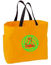 Personalized Embroidered Volleyball Sport Essential Tote Bag CSB0750VB-GD