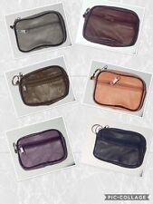 MENS LADIES GENTS GENUINE LEATHER PURSE WALLET CHANGE ZIP POUCH COIN